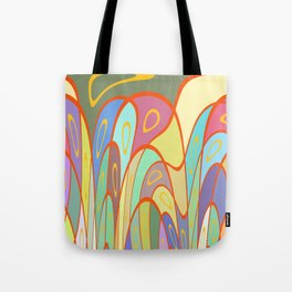 Distorted squares and circles Tote Bag