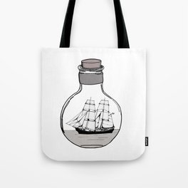 Ship in the Glass Bulb for Home Decor and Apparel Tote Bag