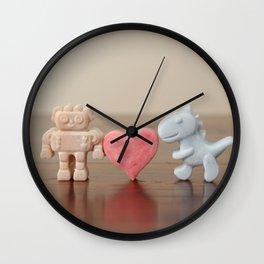Robot <3 Dinosaur Wall Clock