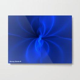Blue Silk Metal Print