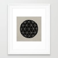 triangles Framed Art Prints featuring Geodesic by Terry Fan