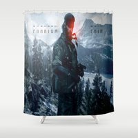 pain Shower Curtains featuring PHANTOM PAIN by Acus