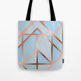 Blue Art Deco Tote Bag