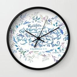 The New Creation - 2 Corinthians 5:17 Wall Clock