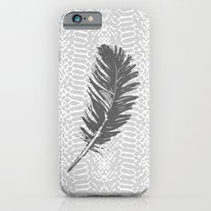 Lovely grey feather Slim Case iPhone 6s