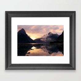 Milford Sound Sunset Framed Art Print
