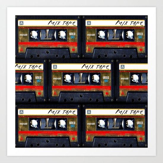 Retro classic vintage gold mix cassette tape by digitalizedteam