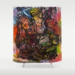Watercolor Illusion  Shower Curtain
