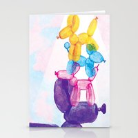 baloon Stationery Cards featuring Baloon Pups by Fricking