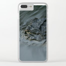 """Alligator"" Watching You! Clear iPhone Case"