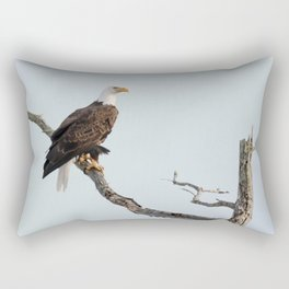 Bald Eagle in the tree Rectangular Pillow