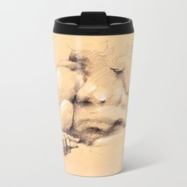 Fontana dei Quattro Fiumi (River God Study) Metal Travel Mug