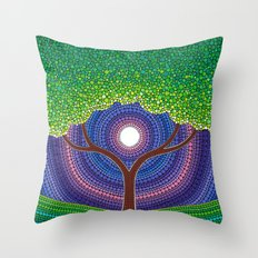 Happy Tree of Life Throw Pillow