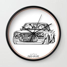 Crazy Car Art 0002 Wall Clock
