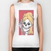 skeleton Biker Tanks featuring Skeleton by NathanJoyce