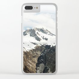 Melting peaks Clear iPhone Case
