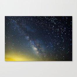 Milky Way bokeh Canvas Print