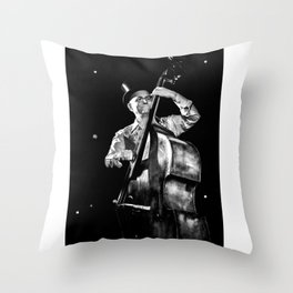 The old contrabass player Throw Pillow