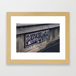 Trace Framed Art Print