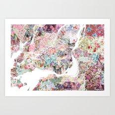 Montreal map - Landscape orientation Art Print