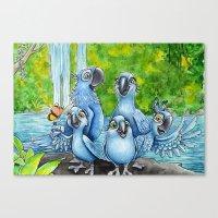 rio Canvas Prints featuring Rio by Elise Hoglund