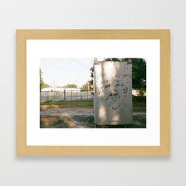 e= Framed Art Print