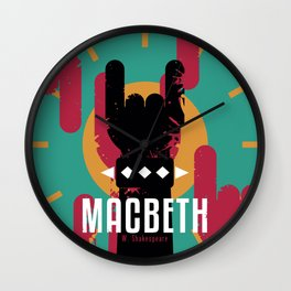 Macbeth by Shakespeare Wall Clock
