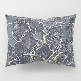 Kuala Lumpur Malaysia City Map with GPS Coordinates Pillow Sham