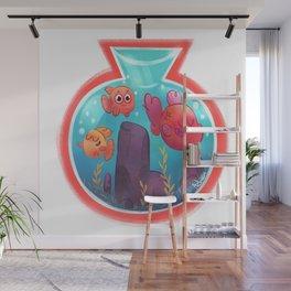 Fishbowl budies Wall Mural