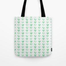 Watercolor Green Hearts Tote Bag