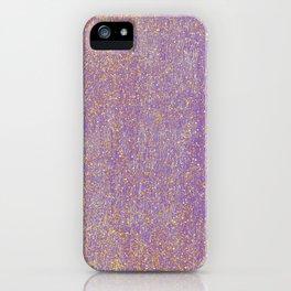 Elegant purple lavender faux gold glitter iPhone Case