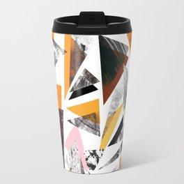 Colourful textured triangles print Travel Mug