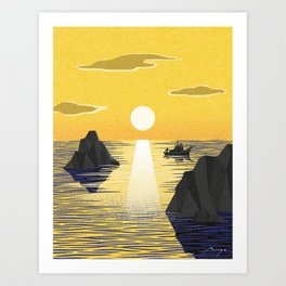 First sunrise Art Print