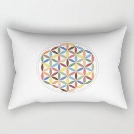 Flower of Life Retro Colors Rectangular Pillow