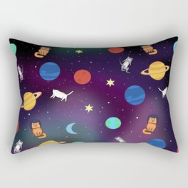 """Cats from outer space!"" Galaxy Print Rectangular Pillow"