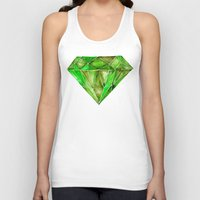 geode Tank Tops featuring Peridot by Cat Coquillette