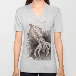 Squid ink and tentacles Unisex V-Neck
