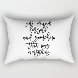 Inspirational Poster Motivational Quote Gift Idea For Her Typography Quote Typographic Print Rectangular Pillow