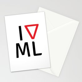 I love machine learning Stationery Cards