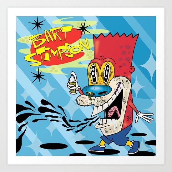 Bart Stimpson Art Print