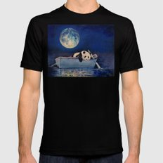 Blue Moon Black MEDIUM Mens Fitted Tee
