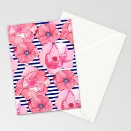 Poppy Overload Stripe Stationery Cards