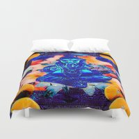 ganesh Duvet Covers featuring ganesh by Candice Steele Collage and Design