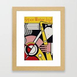 Roy Fox Lichtenstein, Aspen Winter Jazz 1967 Artwork, Men, Women, Kids, Posters, Prints, Bags, Tshir Framed Art Print