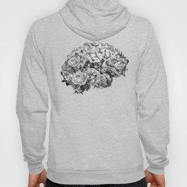flower brain black and white Hoody