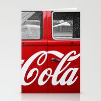 coca cola Stationery Cards featuring Coca Cola  by Lia Bernini