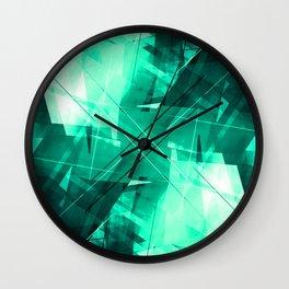 Mint Maze - Geometric Abstract Art Wall Clock