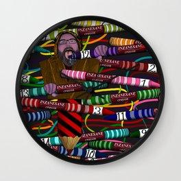 Inzanesane Crayon Stuffffs Wall Clock