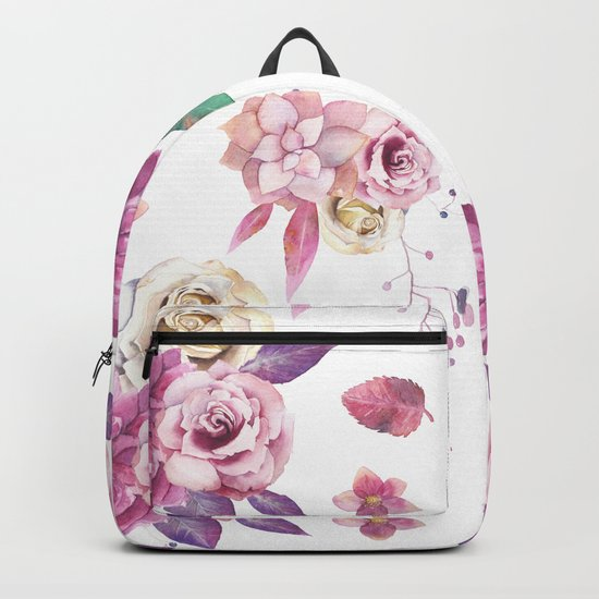 Succulent Rose Backpack