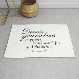 Devote prayer watchful thankful,Colossians 4:2,Christian BibleVerse Rug